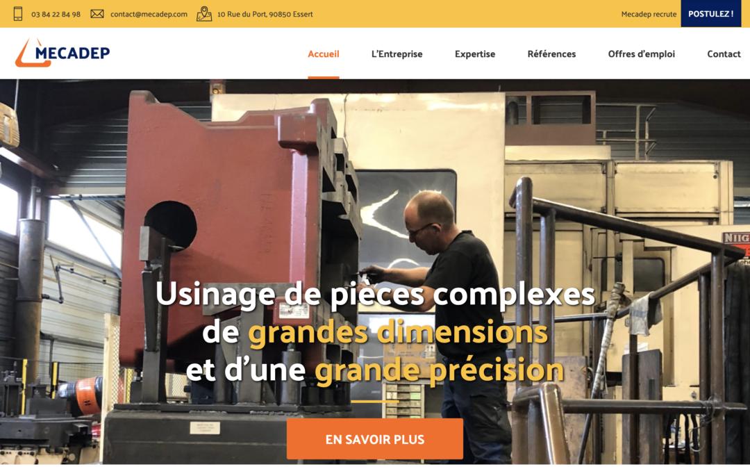 Site internet de l'entreprise MECADEP